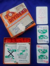 Vintage Collectible Football Pools, cards game Top Dividend